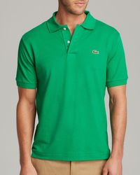 Lacoste | Green Short Sleeve Pique Polo Shirt - Classic Fit for Men | Lyst