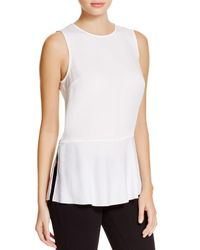 Theory | White Nicella Silk Peplum Top | Lyst