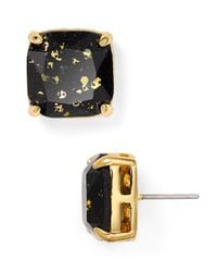 kate spade new york | Black Small Square Glitter Stud Earrings | Lyst