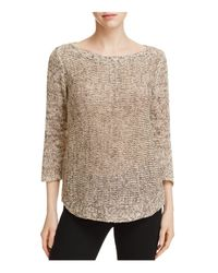 Eileen Fisher - Multicolor Boat Neck Tunic Sweater - Lyst
