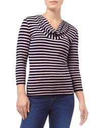 Phase Eight | Blue Carried Striped Top | Lyst