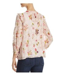 Kate Spade | Pink In Bloom Chiffon Top | Lyst