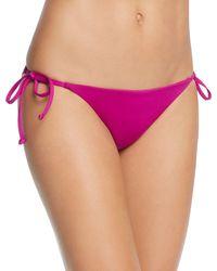 Becca | Purple 'color Code' Side Tie Bikini Bottoms | Lyst
