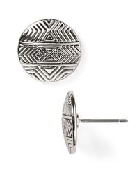House of Harlow 1960 - Metallic Tholos Mosaic Stud Earrings - Lyst