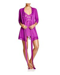 L'Agent by Agent Provocateur | Purple Jada Short Robe | Lyst