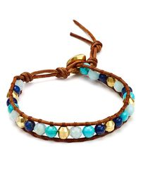 Chan Luu | Blue Turquoise & Lapis Beaded Bracelet | Lyst