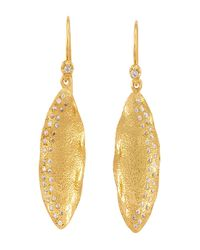 Melinda Maria | Metallic Clea Mademoiselle Drop Earrings | Lyst