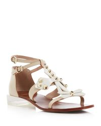 Tory Burch - White Aurora Leather Sandals - Lyst