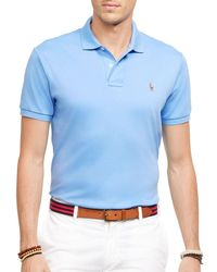 Polo Ralph Lauren | Blue Pima Soft Touch Regular Fit Polo for Men | Lyst