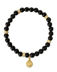Freida Rothman | Black Matte Onyx Stretch Bracelet | Lyst