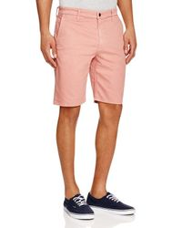 Joe's Jeans - Pink Straight Fit Trouser Shorts In Taupe for Men - Lyst