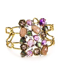 Alexis Bittar | Multicolor Elements Mother-of-pearl & Swarovski Crystal Cuff | Lyst