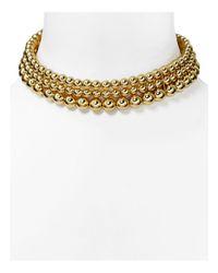 Aqua | Metallic Cairo Collar Necklace - 100% Exclusive | Lyst