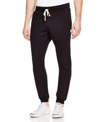 Steven Alan | Black Core Slim Fit Jogger Sweatpants for Men | Lyst