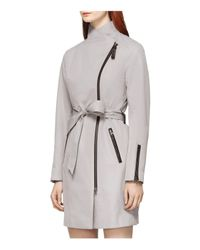 Mackage - Multicolor Estela Leather Trimmed Trench Coat - Lyst