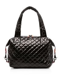 MZ Wallace | Black Oxford Sutton Medium Satchel | Lyst