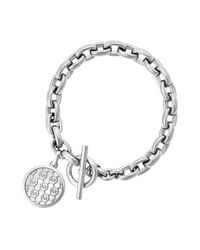 Michael Kors | Metallic Monogram Toggle Bracelet | Lyst