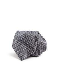 Saint Laurent | Metallic Neat Logo Skinny Tie for Men | Lyst