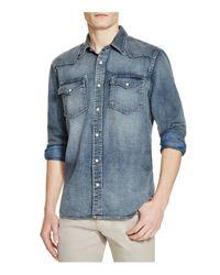 Jean Shop - Blue Western Regular Fit Button-down Shirt for Men - Lyst