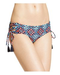 MICHAEL Michael Kors | Blue Shirred Bikini Bottom | Lyst