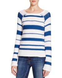 PAIGE - Blue Denim Taryn Stripe Sweater - Lyst