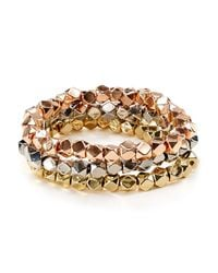 BaubleBar   Metallic Decagon Bracelets, Set Of 3 - Bloomingdale's Exclusive   Lyst
