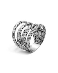 John Hardy | Metallic Sterling Silver Classic Chain 4-band Ring | Lyst
