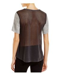 Nally & Millie - Gray Mesh Back Tee - Lyst
