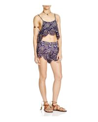 Free People - Purple So Much Fun Crop Top - Lyst