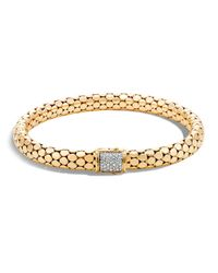 John Hardy | Metallic 18k Yellow Gold Dot Small Chain Bracelet With Diamonds | Lyst
