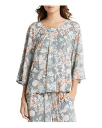 BCBGeneration - Gray Tucked Trapeze Top - Lyst