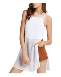 BCBGeneration - White Illusion Hem Tunic Top - Lyst