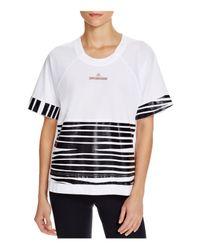 Adidas By Stella McCartney - White Essentials Zebra Tee - Lyst