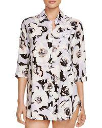 kate spade new york - Multicolor Rose Lilac Sleepshirt - Lyst