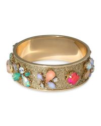 ABS By Allen Schwartz - Metallic Embellished Bangle - Lyst