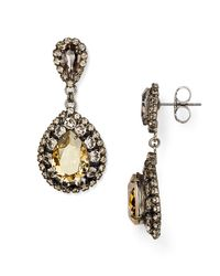Sorrelli - Metallic Swarovski Crystal Statement Earrings - Lyst