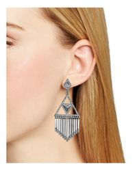 House of Harlow 1960 - Metallic Golden Hour Fringe Earrings - Lyst