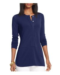 Pink Pony - Blue Lauren Jersey Top - Lyst