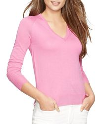 Pink Pony - Pink Lauren V-neck Sweater - Lyst