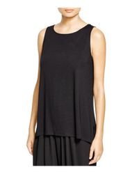 Eileen Fisher - Black Boat Neck Tank - Lyst
