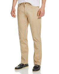Brooks Brothers - Natural Bedford Stretch Cotton Slim Fit Pants for Men - Lyst