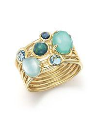 Ippolita | Green 18k Yellow Gold Rock Candy Gelato Semi-precious Multi-stone Ring In Waterfall | Lyst