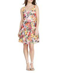 Pink Pony - Multicolor Lauren Floral Print Dress - Lyst