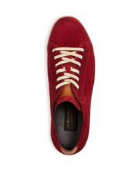 To Boot - Red Barlow Lace Up Sneakers for Men - Lyst