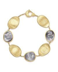 Marco Bicego   Metallic 18k Yellow Gold Lunaria Bracelet With Black Mother-of-pearl   Lyst
