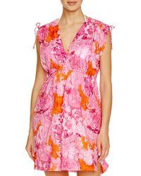 Pink Pony - Pink Lauren Oceania Farrah Dress Swim Cover Up - Lyst