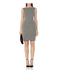 Reiss - Black Lane Houndstooth Check Dress - Lyst