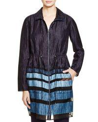 Elie Tahari - Blue Nicolette Stripe Jacket - Lyst