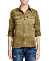 Current/Elliott - Natural The Perfect Camo Shirt - Lyst