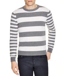 Eleventy - Gray Rugby Stripe Crewneck Sweater for Men - Lyst
